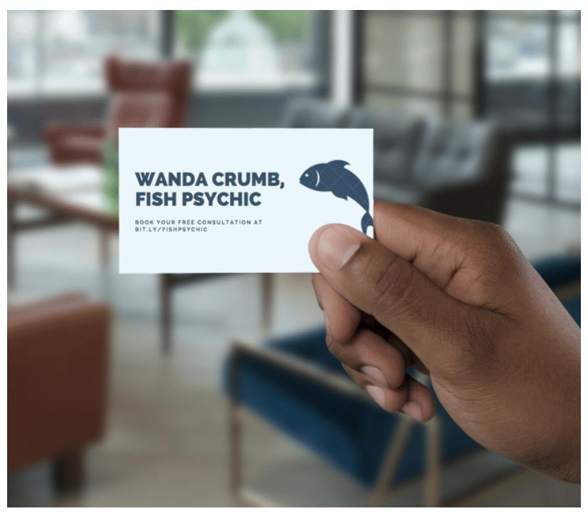 Business card short link