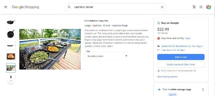 Google Shopping Actions Cooking 2