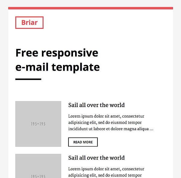 briar email newsletter template slicejack