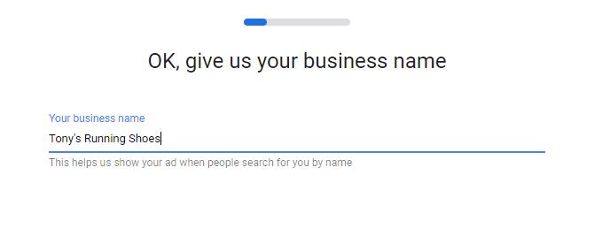 Business name and keywords