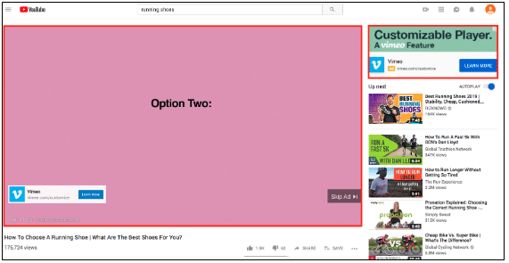Ads as pre-roll before YouTube videos
