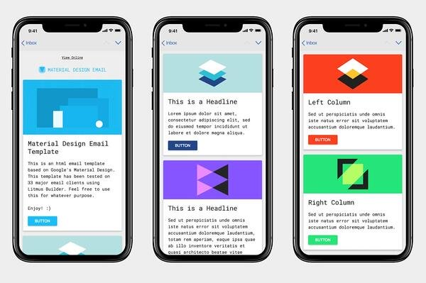 material design email newsletter template