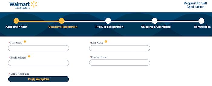 Walmart Marketplace Registration Form