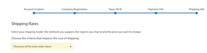 Walmart Marketplace Shipping info form