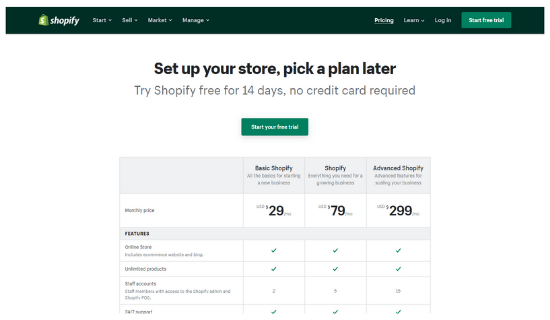 dropshippingtoolsShopifyPricing