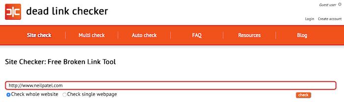 fix 404 errors dead link checker