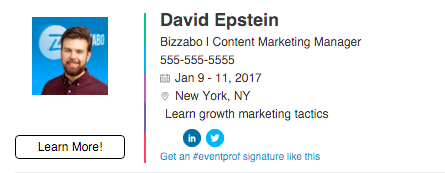 promote an event through email signature