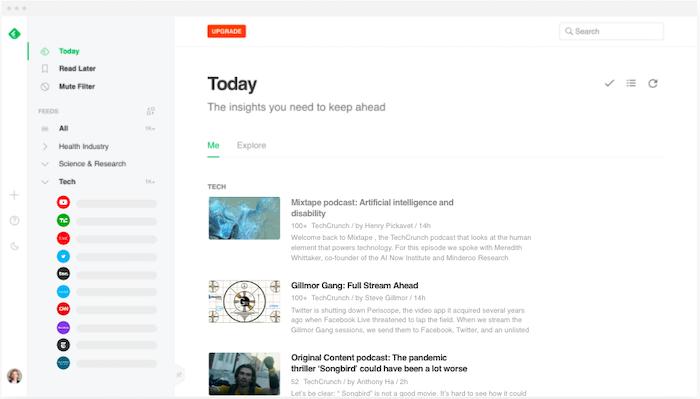 Google Reader alternatives Feedly