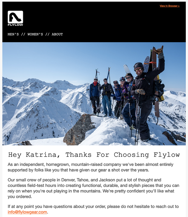 flylow gear example of niche marketing