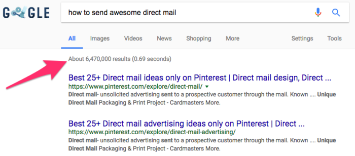 how to send awesome direct mail Google Search