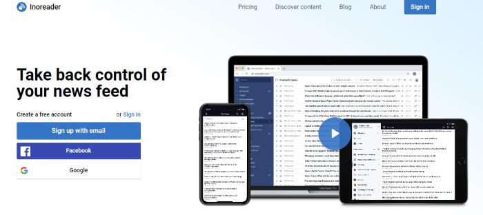 inoreader google reader alternative