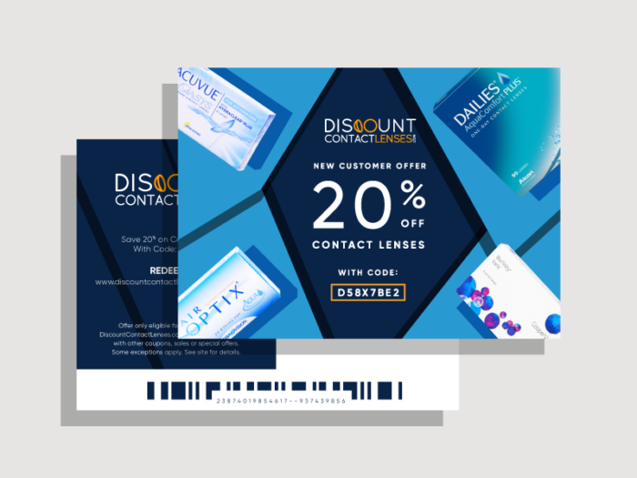 direct mail example discount contacts