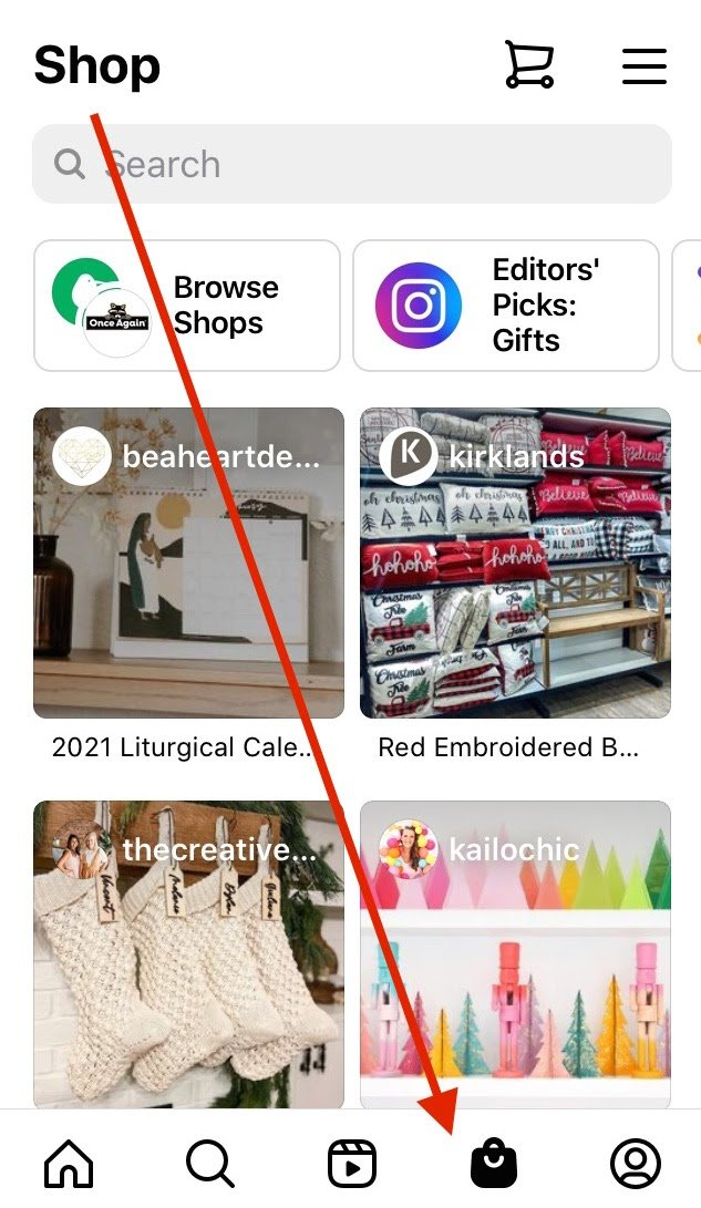 How to Shop Shops on Instagram