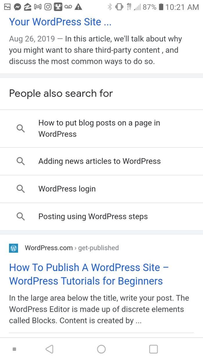 Q&A google example