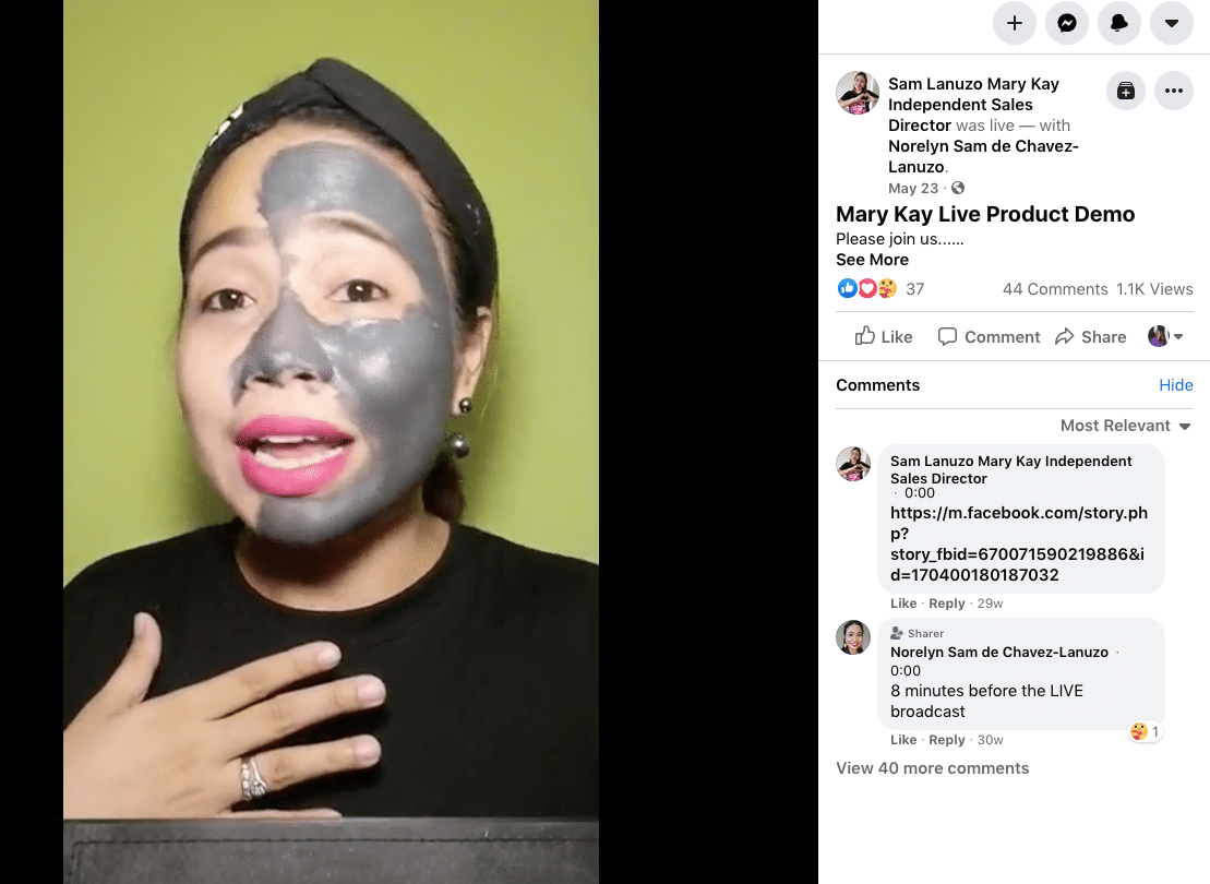 Mary Kay Live product demo