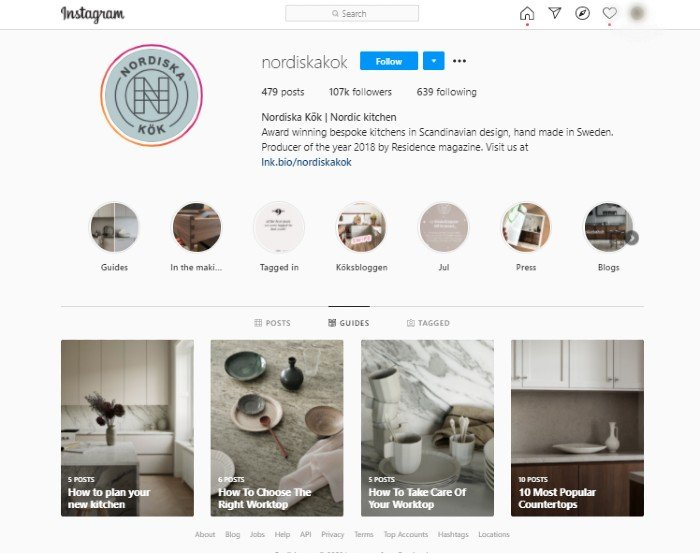 instagram guides counter example