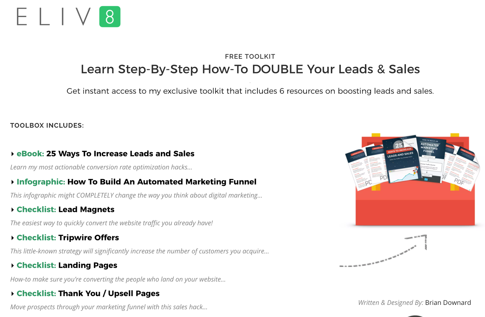 advanced SEO techniques landing page example
