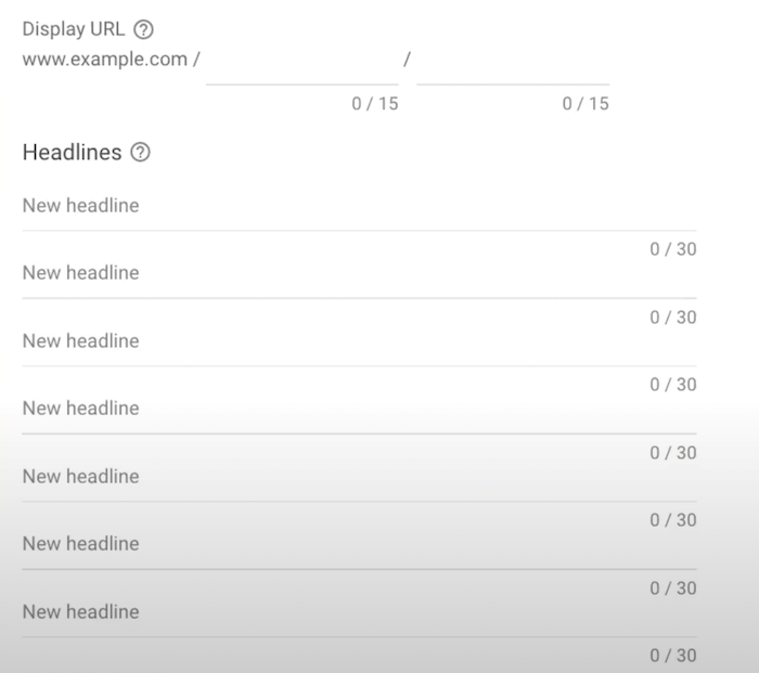 Responsive Search Ads - Create Your Headlines