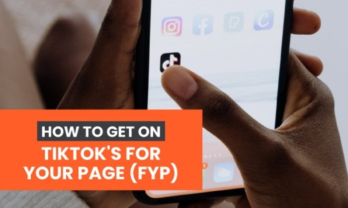 how to get on tiktok's for you page