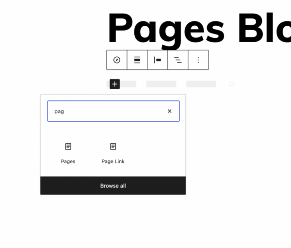 Gutenberg's new pages block