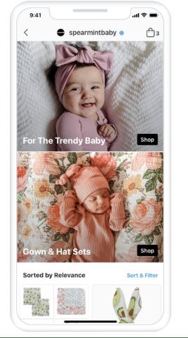 Spearmint Baby Instagram shop