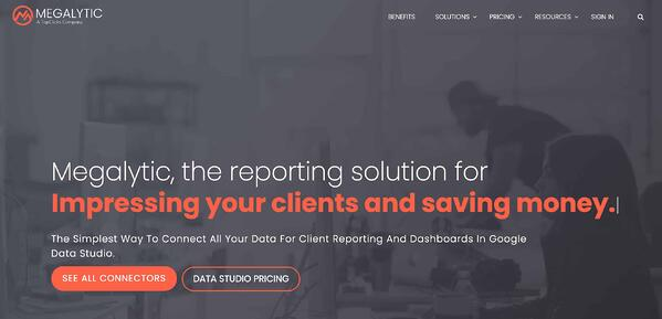 Business Intelligence & Data Reporting Tools example megalytic