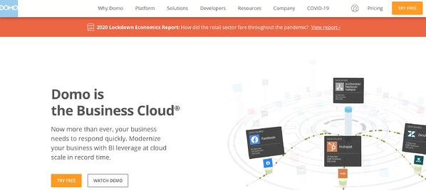 Business Intelligence & Data Reporting Tools example domo