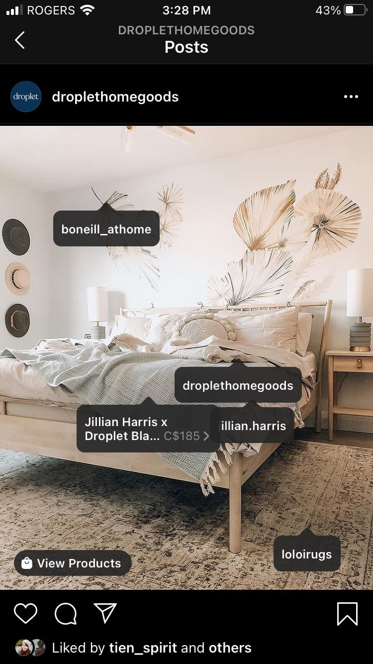 Droplet Home Goods cross-promotion