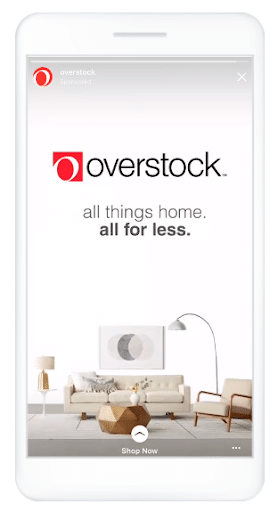 Overstock call to action