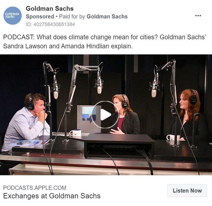 Promote Podcast - Goldman Sachs Example