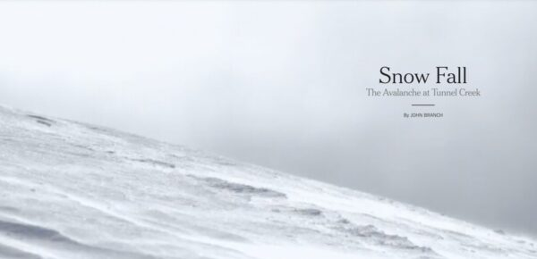 Example of digital story: Snow Fall by the New York Times