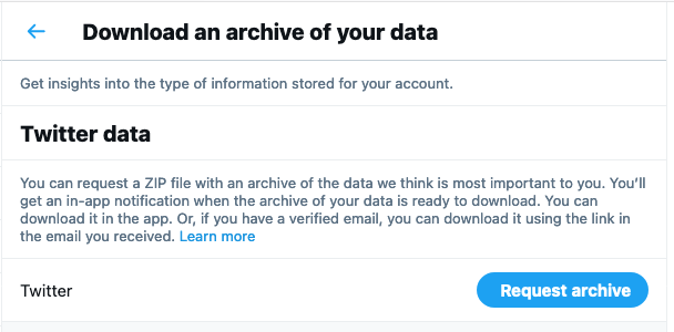How to Find Old Tweets - Twitter Data Archive