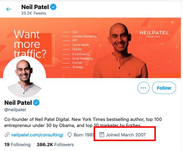 Old Tweets Neil Patel