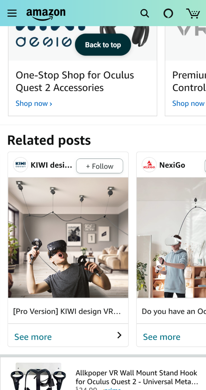 amazon posts - related posts feature