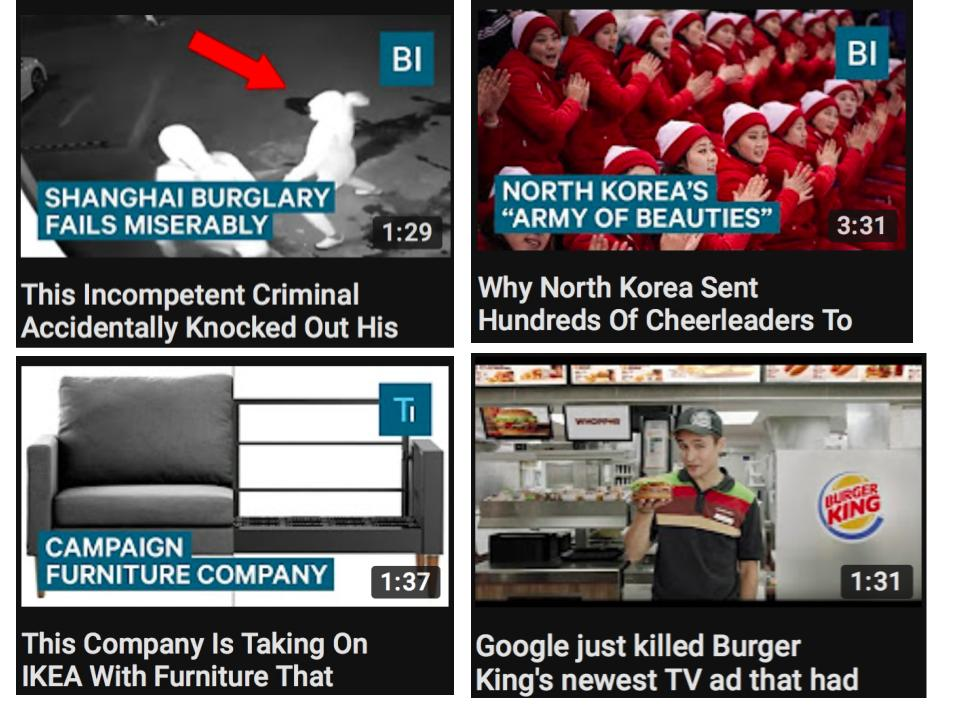 business insider youtube video titles