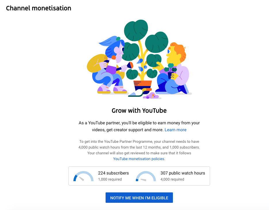 channel monetization YouTube partner program