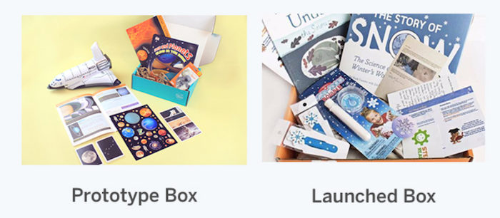 How to Create a Subscription Box - Example of Cratejoy prototype vs launched