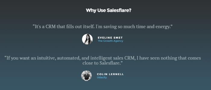 testimonial examples - salesforce