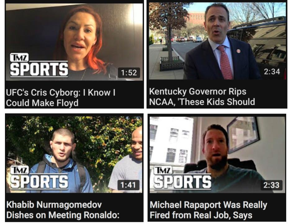 tmz sports youtube video titles