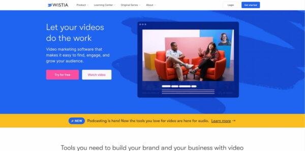 Best video hosting platforms: Wistia