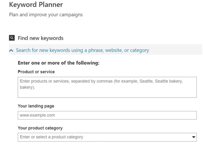 How to Set Up Your Bing Ads Campaign - Choose the Right Keywords