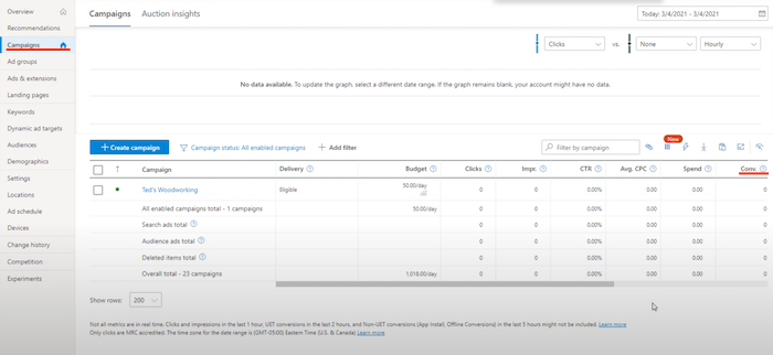 How to Set Up Your Bing Ads Campaign - Track Your Results