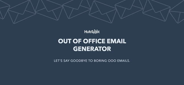 Out of Office email generator