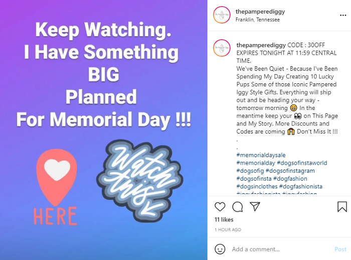 Memorial Day Sales - Tease Your Sales on Social Media