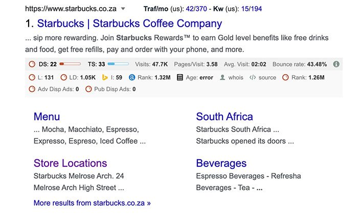 Country Code Top-Level Domains - Starbucks Example