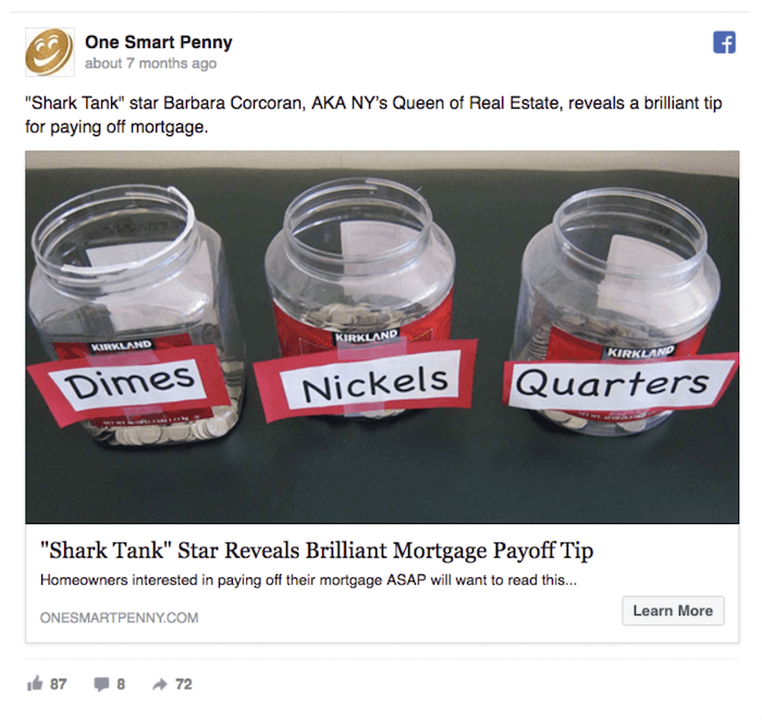 Examples of Great Clickbait Strategies - One Smart Penny