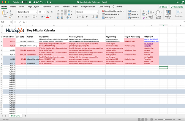Excel sheet with duplicates highlighted.