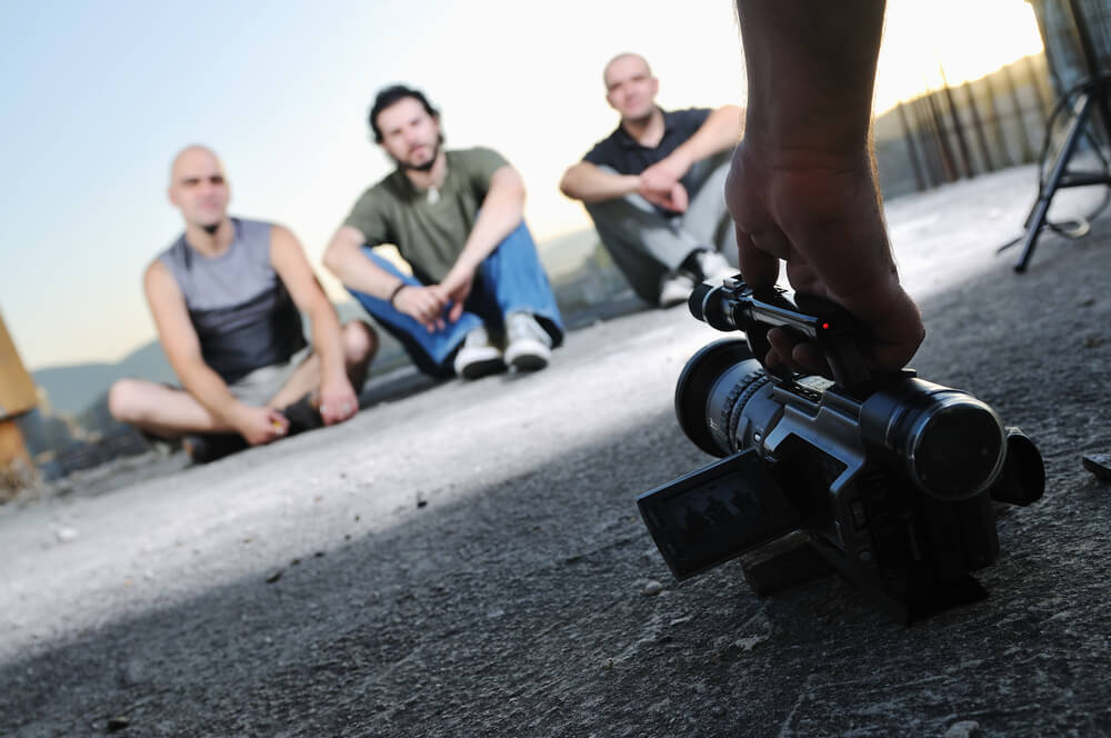 20 Great YouTube Video Ideas - shot of someone recording