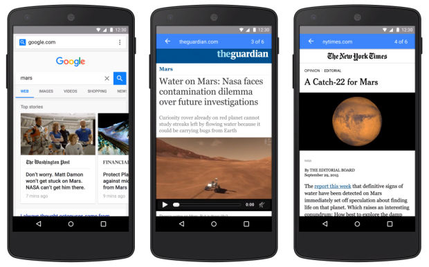 google pagespeed insights amp example