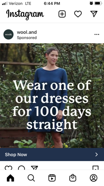 Examples of Great Instagram Ads - Wool